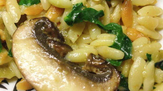 Photo of Instant Pot® Spinach and Mushroom Orzo by thedailygourmet