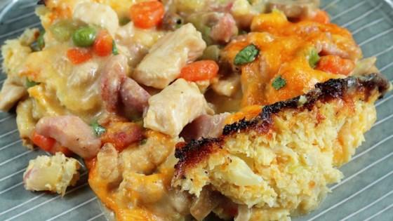 Keto Chicken Breast Pot Pie with Cauliflower Crust Recipe