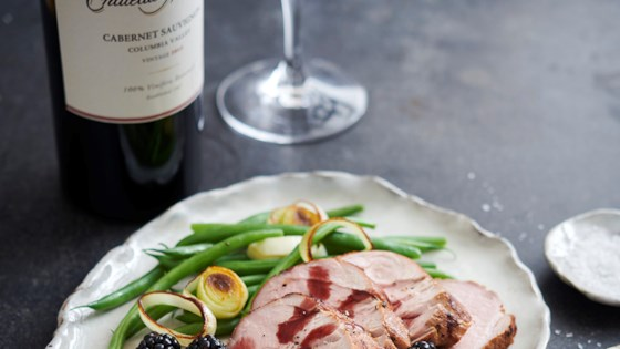 Photo of Grilled Pork Tenderloin with Blackberry Sauce by Chateau Ste Michelle