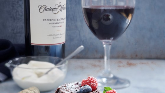 Photo of Flourless Chocolate Lava Cake by Chateau Ste Michelle