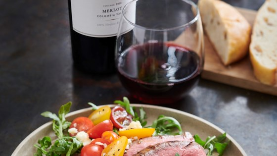 Photo of Balsamic-Grilled Flank Steak and Arugula Salad by Chateau Ste Michelle