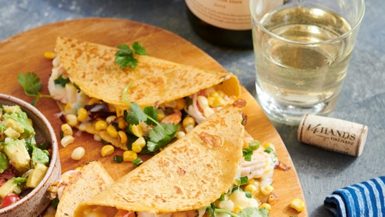 Photo of Corn and Shrimp Quesadillas by 14 Hands Winery