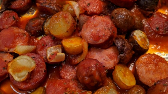 Photo of Baked Kielbasa and Potatoes in Sauce by James O'Donnell (13 year old)