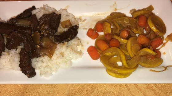 kicky steak strips with rice review by heather horn claussen