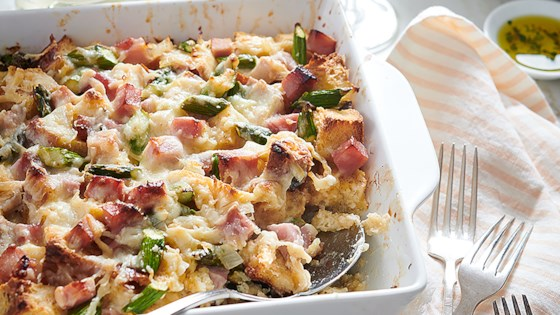 Photo of Ham, Asparagus, and Goat Cheese Strata by Chateau Ste Michelle