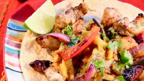 Photo of Sheet Pan Chicken Mango Fajitas by Fioa