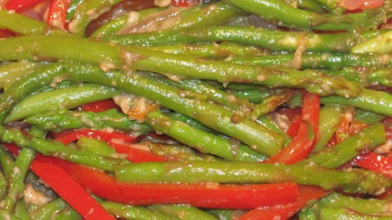 Photo of Asparagus and Red Pepper with Balsamic Vinegar by Patrick