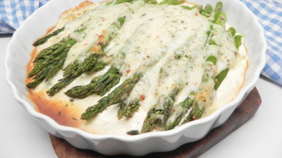 Baked Asparagus With Cheese Sauce Recipe Allrecipes Com