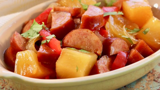 Photo of Slow Cooker Sweet and Sour Kielbasa with Pineapple by damatto