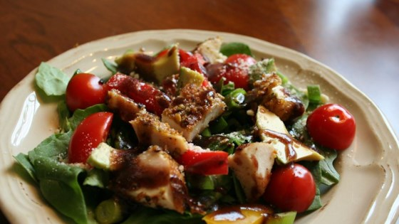 Photo of Spinach Salad with Pistachio Chicken by Sara