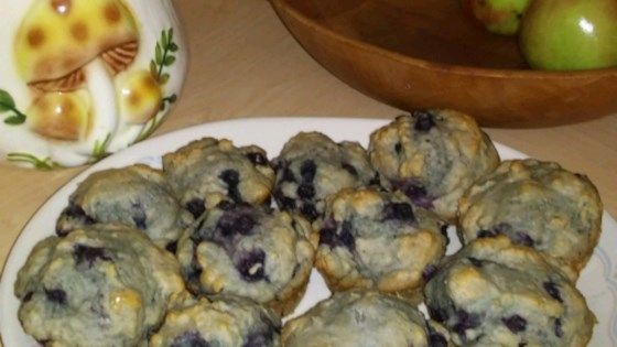 Photo of Applesauce Wheat Blueberry Muffins by Tammie Bickar