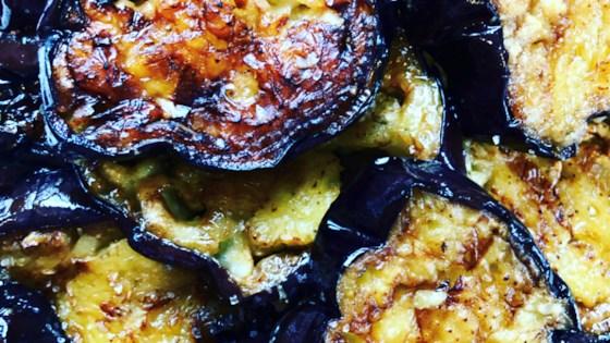 Photo of Fried Eggplant with Garlic by ServingsofYum