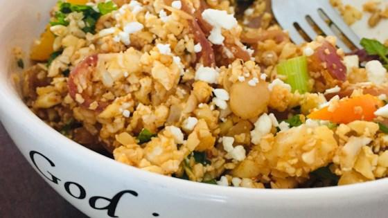 cauliflower rice and beans fajita bowls review by janice