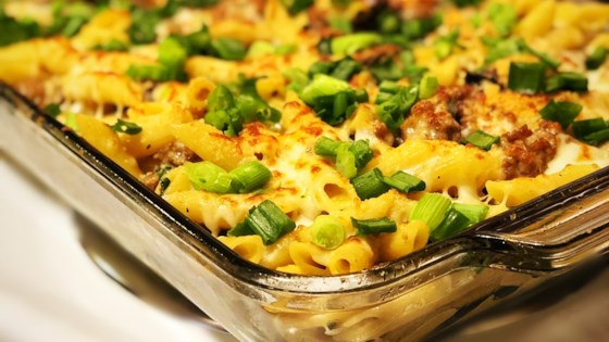 Photo of Baked Pasta with Sausage and Baby Portobello Mushroom White Sauce by Peter Alfieri