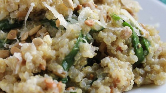 Photo of Cheesy Quinoa Pilaf with Spinach by alliecat3