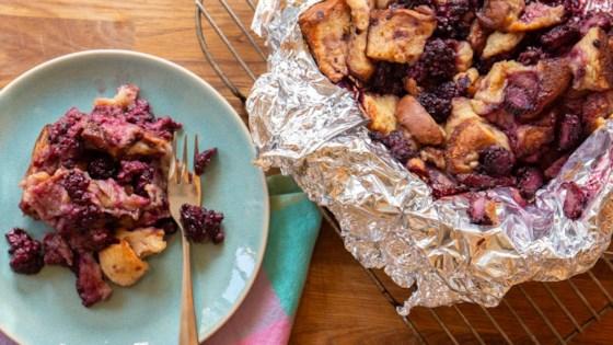 Photo of Grilled Blackberry Brioche Bread Pudding by Julie Hubert