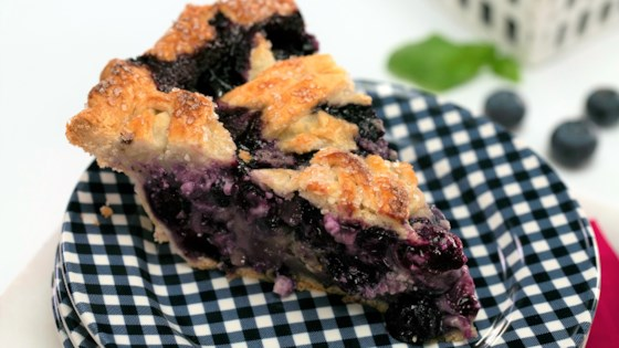 Photo of Blueberry, Goat Cheese, and Basil Pie by Smart Cookie