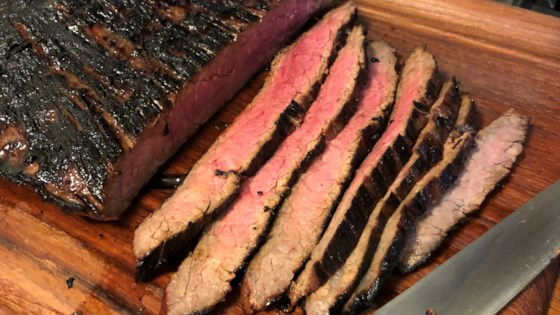Photo of Grilled Balsamic and Soy Marinated Flank Steak by DENMOZZ