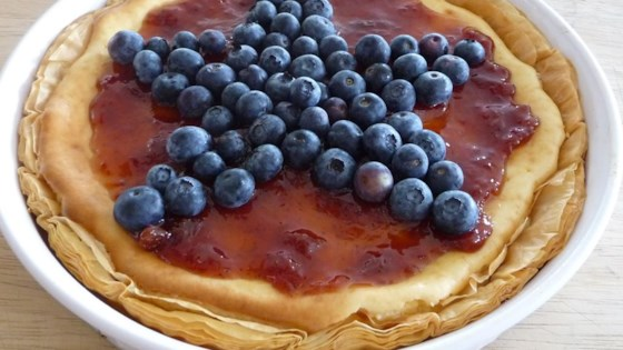Photo of Red, White, and Blueberry Cheesecake Pie by JJOHN32