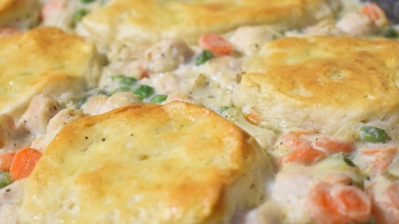 Photo of Mom's Fabulous Chicken Pot Pie with Biscuit Crust by Pam