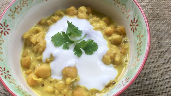 Photo of Clean-Eating Coconut Chickpea Curry by barbara