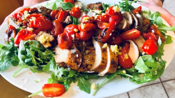 Photo of Roasted Balsamic Chicken with Baby Tomatoes by KissRiss
