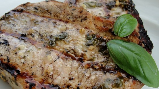 Photo of Basil-Garlic Grilled Pork Chops by Gina-Li