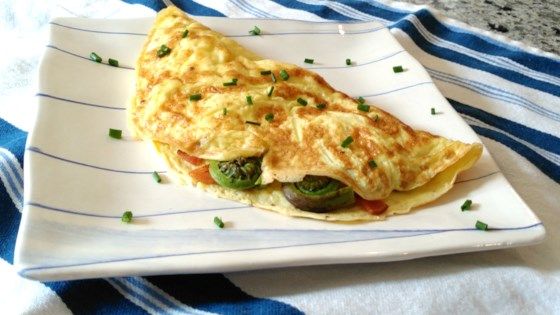 Photo of Fiddlehead and Bacon Omelette by Bren