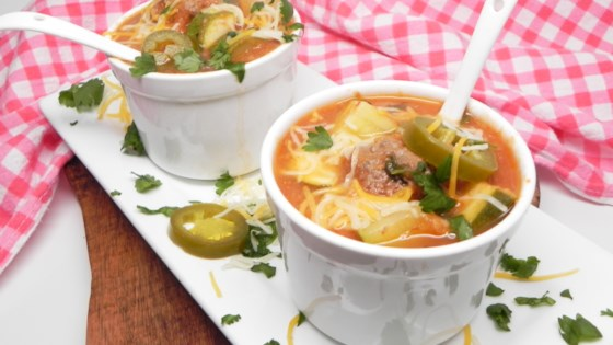 Photo of Mexican Meatball and Chipotle Soup (Sopa de Albondigas y Chipotle) by Crema