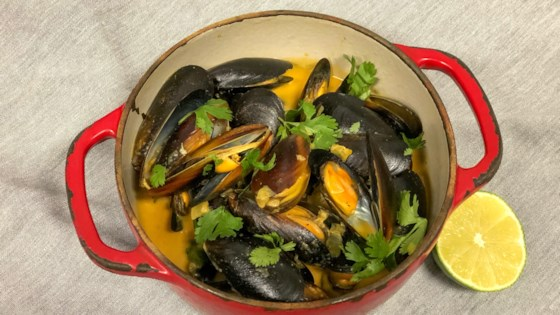 Photo of Mussels in Lime-Coconut Broth by Drew Miller