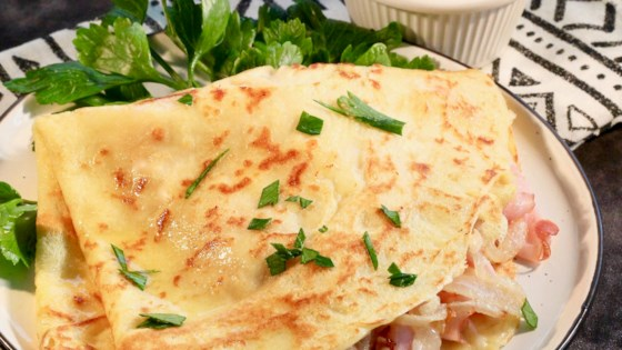 Photo of Ham and Cheese Crepes by lutzflcat