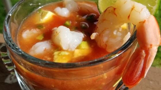 Photo of Authentic Mexican Shrimp Cocktail (Coctel de Camarones estilo Mexicano) by Mexican Sweetheart