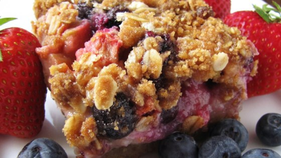 Photo of Very Berry Rhubarb Bars by Dianne