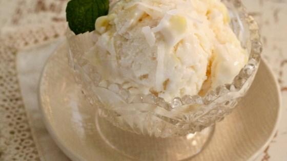 Photo of Coconut-Pineapple Ice Cream by lutzflcat