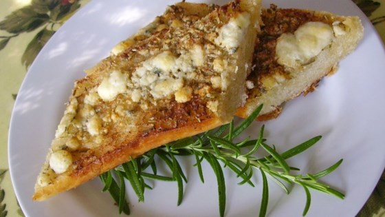 Photo of Rosemary Blue Cheese Garlic Bread by Mrs. Falvo