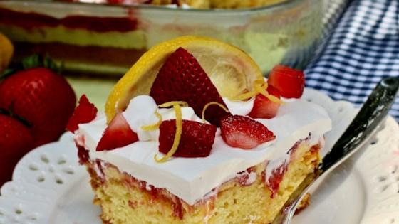 Photo of Strawberry-Lemon Poke Cake by My Hot Southern Mess