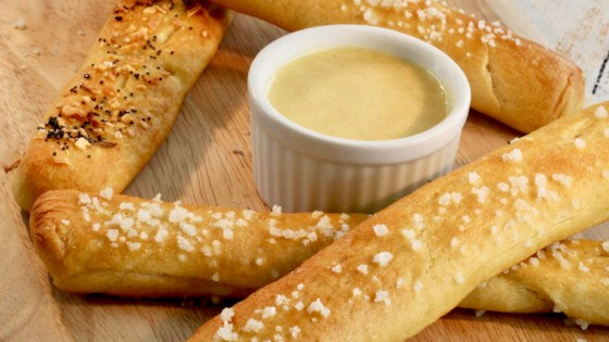 Photo of Soft Pretzel Sticks with Honey Mustard Dipping Sauce by lutzflcat