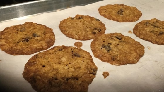 Photo of Thin and Crispy Oatmeal Raisin Cookies by Abracadabra
