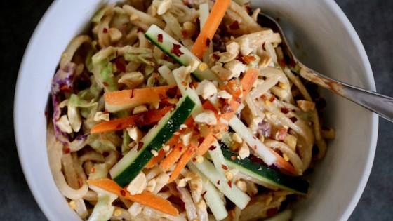 Photo of Gluten-Free Spicy Sesame-Peanut Noodles by Anna Fargo