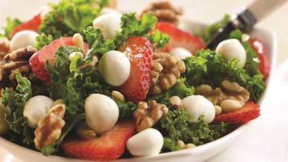 Fresh Mozzarella Strawberry Kale Salad Recipe Allrecipes Com