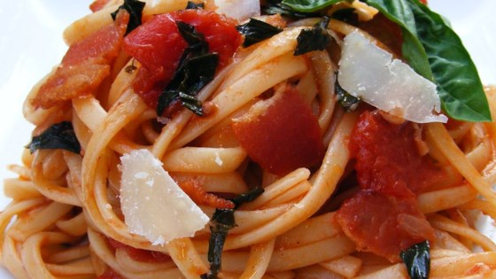 Photo of Peppered Bacon and Tomato Linguine by dalgal
