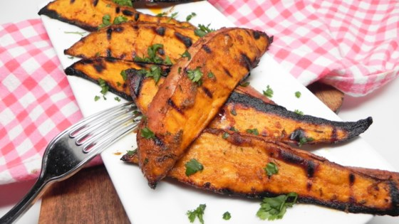 Photo of Spicy Grilled Sweet Potato Wedges  by Soup Loving Nicole