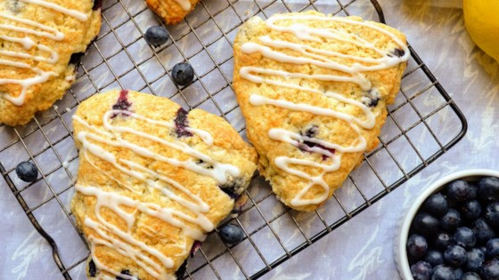 Photo of Lemon Blueberry Scones by Kim's Cooking Now