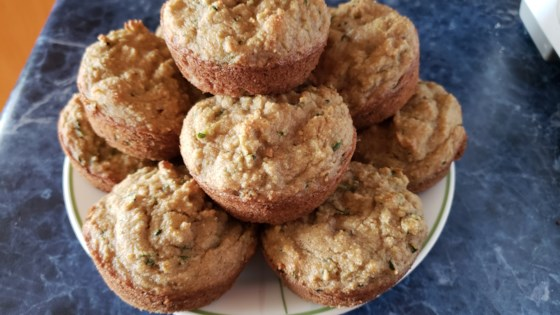 Photo of Dairy- and Gluten-Free Zucchini Orange Chocolate Chip Muffins by queendiva1