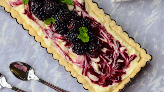 Photo of Blackberry Mascarpone Tart with Thyme Shortbread Crust by Kim's Cooking Now