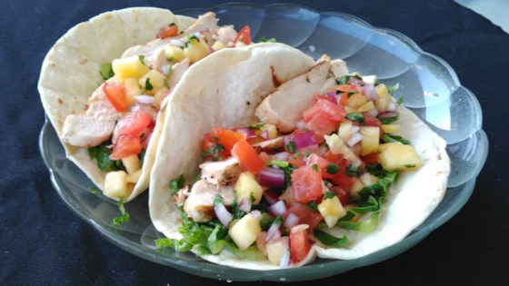 Photo of Chicken Tacos with Pineapple Salsa by Bren