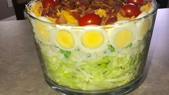 Photo of Easy Seven Layer Vegetable Salad by Barb Cross