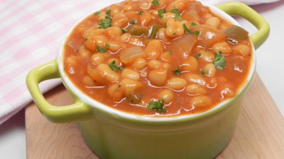 Photo of Vegetarian Baked Beans with Canned Beans by Soup Loving Nicole