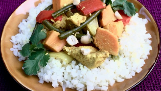 Photo of Coconut Curry Chicken and Vegetables in the Slow Cooker by Bibi