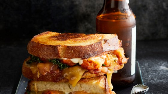 Photo of Sriracha Gouda Grilled Cheese with Sweet Potato Tots by Dan Whalen